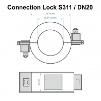 Zählerplombe ConnectionLock S311 DN20